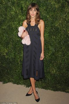 Quick change: That evening, the fashionista upped the glamour at the 11th Annual CFDA/Vogue Fashion Fund Awards, held at Spring Studios in Tribeca