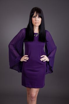 Here Comes Trouble Purple Dress