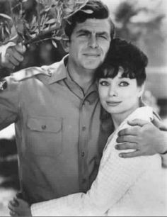 Andy Taylor with his 2nd girlfriend, schoolteacher Helen Crump...from The Andy Griffith Show