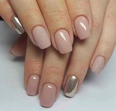 Nail ideas and inspiration. Nails looks including acrylic gel matte glitter and natural. Gold nails nail design and nail art. Summer nails and winter nails. Long and short nails. Nail shapes including almond tapered round stiletto square oval and squoval. Gold Nails, Pink Nails, Gold Glitter, Matte Nails, Squoval Acrylic Nails, Gelish Nails, Shellac On Short Nails, Acrylic Nails Almond Glitter, Coffin Nails