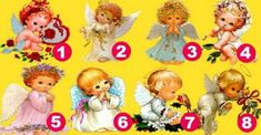 Choose an angel and find out what awaits you in the near future - Romantic Surprise, Near Future, Number Games, Princess Peach, Humorous Pictures, Angels, Future Tense, Patterns, Gym
