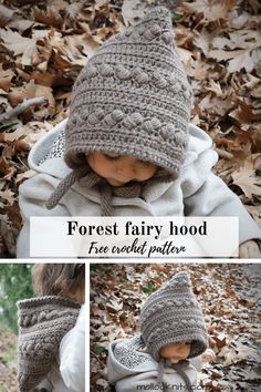 Crochet pixie hat free pattern Crochet pixie hat free pattern,Moogly's Finds Unique and easy free crochet pixie hat pattern inspired by the magical creatures of the woods. Simple construction and lots of texture and. Crochet Kids Hats, Crochet Mouse, Crochet Beanie, Crochet Clothes, Easy Crochet Hat, Crocheted Hats, Knit Hats, Crochet Animals, Bonnet Crochet