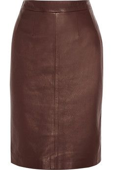 """If I were a rich woman...""  Alexander McQueen Leather pencil skirt 