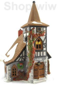 Dept 56 1992 Dickens Village Old Michael Church Christmas Village House Retired