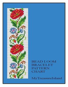 Bead Loom Floral Border 4 Bracelet Pattern by MyTreasureIsland, $5.50