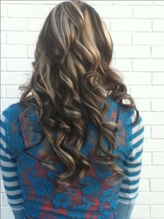 Chocolate brown and blonde highlights :)