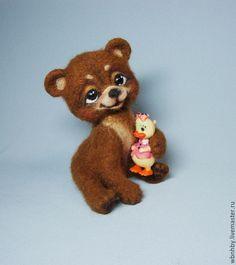 Купить Малыш-Мишутка - мишка, мишка ручной работы, мишки, мишка в подарок, войлочная игрушка