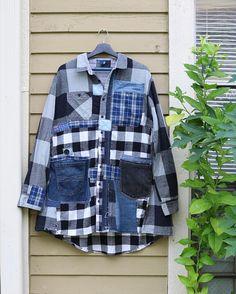 Jacket Upcycled clothing Patchwork jacket fall clothing