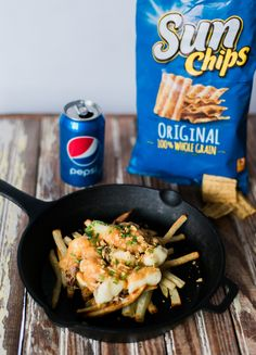 Get your cooking on! Share your recipe using 2+ @PepsiCo products using #GameDayGrubMatchEntry for a chance to win $1,500! This recipe featured here is poutine using a can of Pepsi to make the pulled pork, topped with some crushed Sun Chips for an extra crunch! Via @keeganadriance