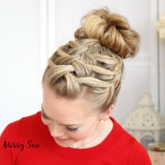 Braid 14-Triple French Braid Double Waterfall