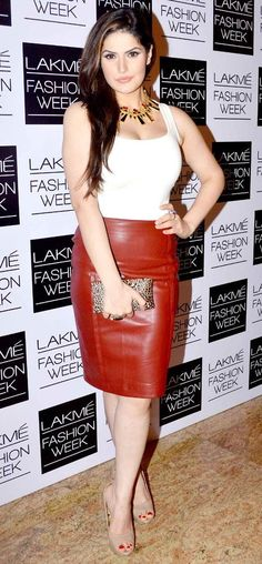 Zareen (Zarine) Khan at the Lakme Fashion Week 2013 by olloo