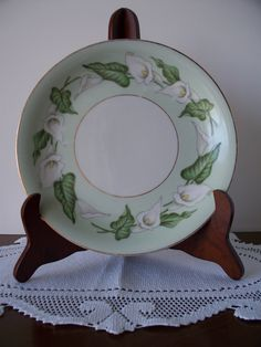 Vintage Noritake Easter Lily Pastry Plate by enchantedmistdesigns, $8.99