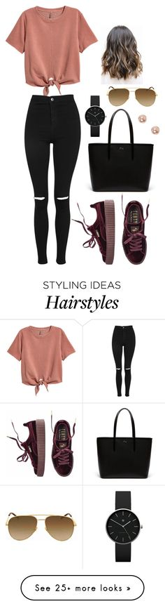"""""""Bez naslova #250"""" by chris-383 on Polyvore featuring H&M, Puma, Topshop, Lacoste, Newgate, Yves Saint Laurent and claire's"""