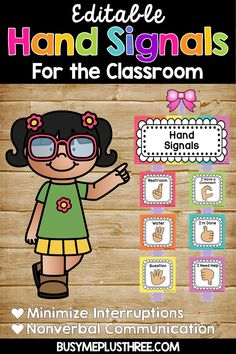 Hand Signals for the Classroom, EDITABLE, Classroom Management, Rainbow Chevron Are you looking for some classroom management strategies? Teachers love these nonverbal sign language posters for their classroom. These editable printable pictures will be g Classroom Hand Signals, Computer Lab Classroom, Teaching Tools, Teacher Resources, Teaching Ideas, Classroom Organization, Classroom Decor, Preschool Classroom Rules, Kindergarten