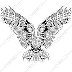 adult coloring page eagle zentangle doodle coloring pages for adults digital illustration instant download print