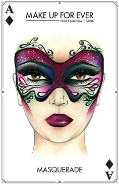 Make Up For Ever Masquerade Halloween Look Masquerade Halloween, Masquerade Makeup, Creepy Halloween Makeup, Halloween Makeup Looks, Halloween Make Up, Masquerade Party, Halloween Cards, Halloween Halloween, Halloween Costumes