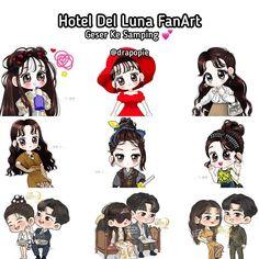 Edisi Hotel Del Luna FanArt 💗 Gemesh bat ya ampun 😍 Cr O Kim Woo Bin, Gong Yoo, Picts, Korean Dramas, Goblin, Cute Drawings, Lovers Art, More Fun, Chibi
