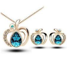 Apple Crystal Necklace Set - 786shop4you