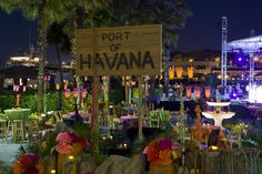 33 Night Party with Havana-themed Decorations - weddingtopia Havanna Nights Party, Havanna Party, Havana Nights Party Theme, Luau, Cuban Party, 30th Birthday Parties, Birthday Ideas, Thirty Birthday, On Your Wedding Day