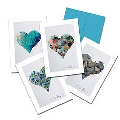 Donald Verger Photography Fine Art Note Cards Elegant Sea Glass Hearts 35x5 Set of 8 Best Quality Blank Folded Cards with Matching Envelopes Unique as Thank You Notes Invitations  Gifts *** Read more info by clicking the link on the image.