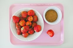 Strawberries dipped in coconut sugar