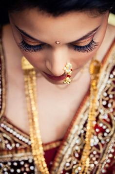 Stunning photo of the bride at South Asian wedding by Studio Uma Marathi Bride, Marathi Wedding, Desi Wedding, Wedding Pics, Wedding Bride, Ethnic Wedding, Wedding Ideas, Princess Wedding, Wedding Bells