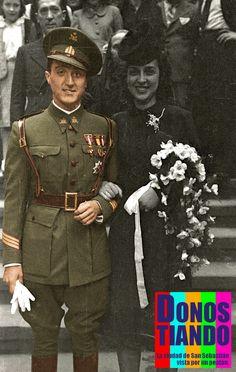 Boda en 1941. Foto Kutxateka. Color Ion Urrestarazu Parada.