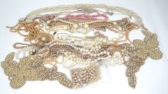 Lot of 14 Broken Pearl Necklaces & Misc Items Crafting Projects Japan #Mixed
