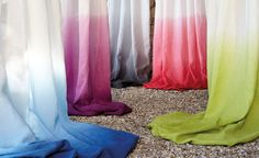 Zephyr Grey Seal by Romo Black Edition Fabric<br>Beautiful natural linen dip-dyed in stunning contemporary colours. Dip Dye Curtains, Dip Dye Fabric, Ombre Fabric, How To Dye Fabric, Black Fabric, Draped Fabric, Curtain Fabric, Linen Fabric, Shibori