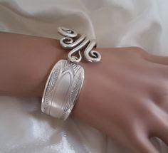 Bracelet fourchette, articulé, art déco , mat : Bracelet par j-v-bijoux