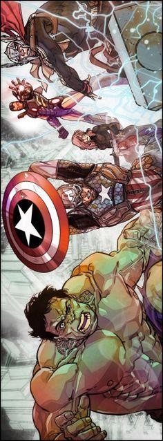#Avengers #Fan #Art. (The Avengers) By: Carmine Di Giandomenico. (THE * 5 * STÅR * ÅWARD * OF: * AW YEAH, IT'S MAJOR ÅWESOMENESS!!!™) ÅÅÅ+
