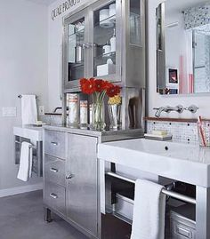Dragonflies & wood: Bathroom sink idea