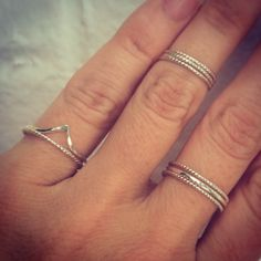 Sterling Silver Stacking Rings  Twisted Ring by hollybluejewelry, $15.00