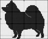 Mini Cross Stitch, Cross Stitch Charts, Cross Stitch Patterns, Beaded Animals, Crochet Animals, Dog Chart, Fair Isle Chart, Silhouette Painting, Seed Bead Patterns