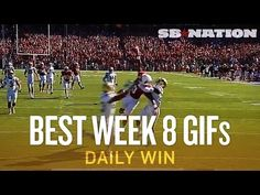 Crazy Stanford catch, Best Week 8 College Football GIFs (Daily Win)