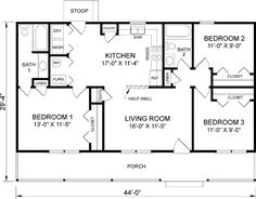 Affordable House Plans 3 Bedroom Islip Home Plan 3 Bedroom 2