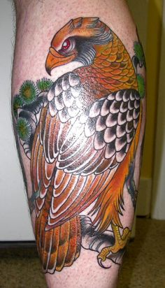 Japanese hawk tattoo... not really the style that I want for my hawk tattoo, but I still like it