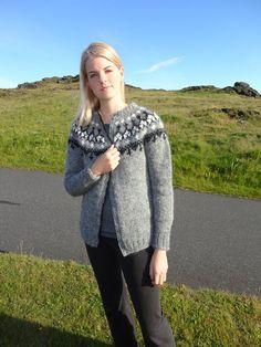 Icelandic wool cardigan in grey Faith by DizaIcelandicdelight, $210.00