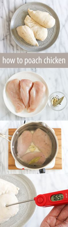 How to poach chicken breasts so they come out moist and tender every time.