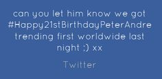 Twitter Birthday  Peter Andre Peter Andre, Happy 40th Birthday, Let It Be, Engagement, Twitter, Quotes, Quotations, Happy 40 Birthday, Engagements