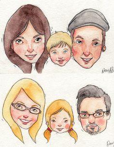 Personalized Watercolor Portrait / Original Art by dannybrito, $45.00