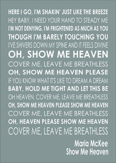 Show me my love lyrics