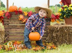 Pyner Photography at Hall Family Farm in South Charlotte, NC $5 photos September through the end of october www.pynerphotography.com www.facebook.com/mpynerphotography   fall pumpkins pumpkin patch hay bales country fall family poses photography scarecrow toddler baby babies costumes Halloween