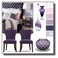 """Purple Room"" by gracecar3 ❤ liked on Polyvore featuring interior, interiors, interior design, home, home decor, interior decorating, Lalique, Andrew Martin, Portfolio and Cyan Design"