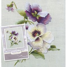 Trish Burr Embroidery Kit  Victorian Pansies by InspireEmbroidery, $29.95