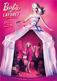 Barbie in Laforet Retro Advertising, Advertising Design, Fashion Dolls, Fashion Art, Italy Fashion, Mode Pop, Barbie, Artistic Installation, Tinkerbell