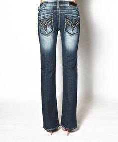 Look what I found on #zulily! Dark Wash Dallas Bootcut Jeans - Women by Vigoss #zulilyfinds