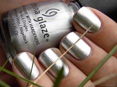 "Silver Nail Polish:  China Glaze ""Millenium"""