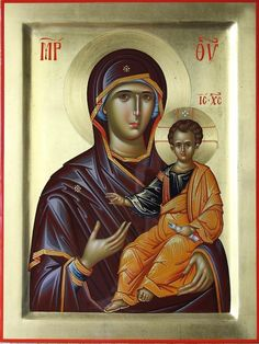 Hodighitria Painting - Mother Of God Hodighitria by Daniel Neculae