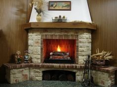 Cottage Fireplace, Cozy Fireplace, Foyers, Rustic Fireplaces, Wood Storage, Cottage Homes, Diy Furniture, Family Room, New Homes